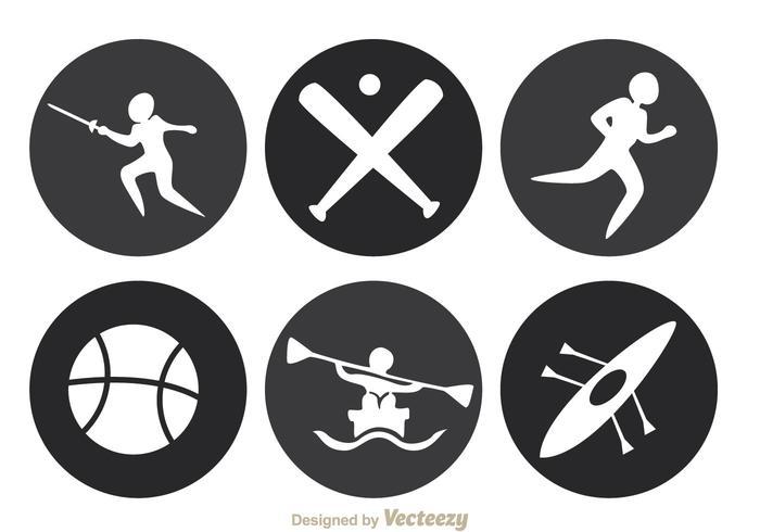 Icônes du cercle sportif vecteur