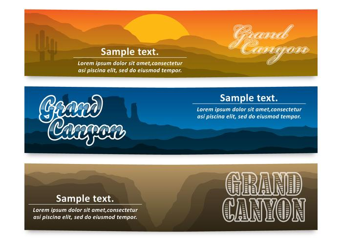 Bannières du Grand Canyon vecteur