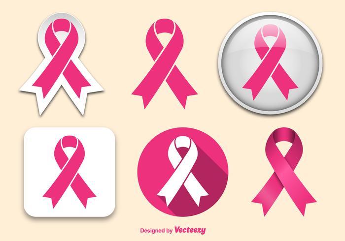 Rubans de cancer du sein vecteur