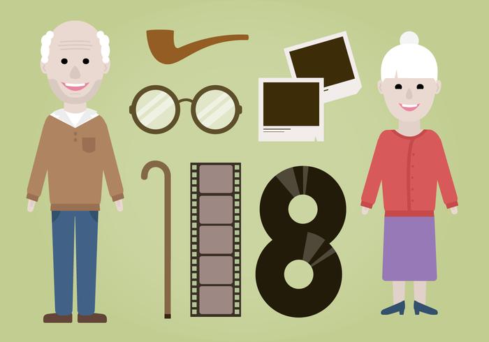 Vecteur gratuit des grands-parents