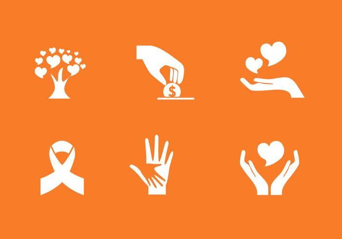 Ensemble d'icônes de donation de vecteur