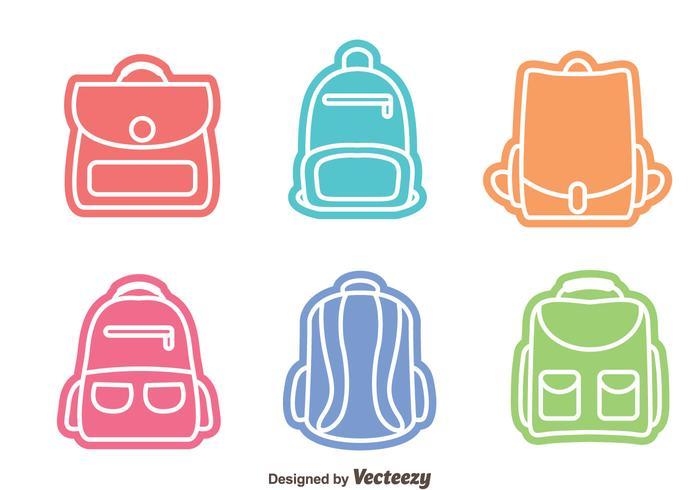 Vecteurs de sac colorés vecteur