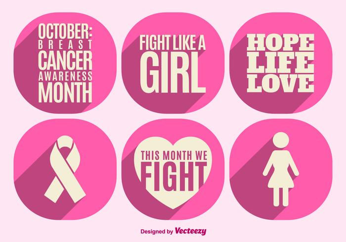 Les éléments de sensibilisation au cancer du sein vecteur