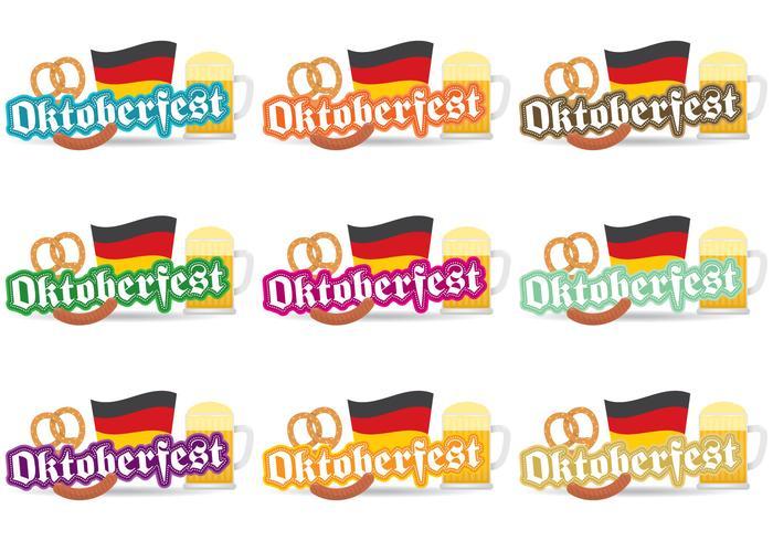 Badges vectoriels Oktoberfest vecteur