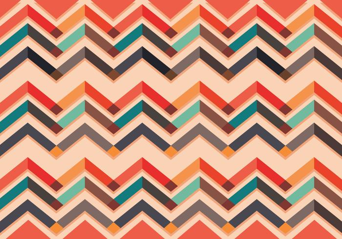 Chevron pattern vector colorful