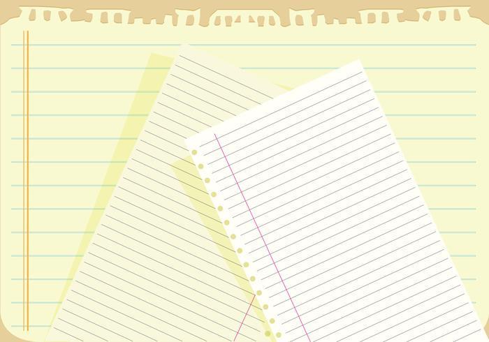 Carnet papier vecteur de fond