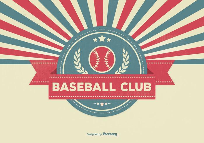 Illustration de club de baseball rétro vecteur