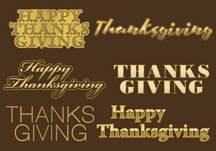 Titres d'or de Thanksgiving vecteur