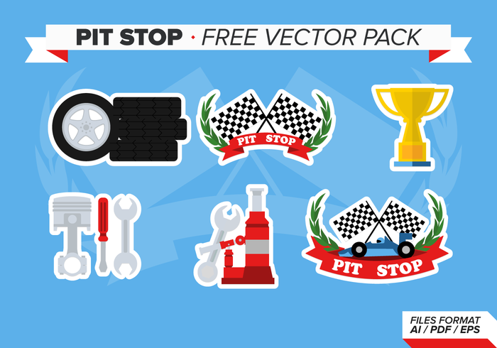 Pits stop free vector pack