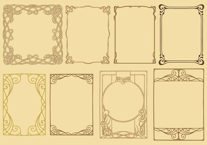 Vecteurs de cadre Art Nouveau vecteur
