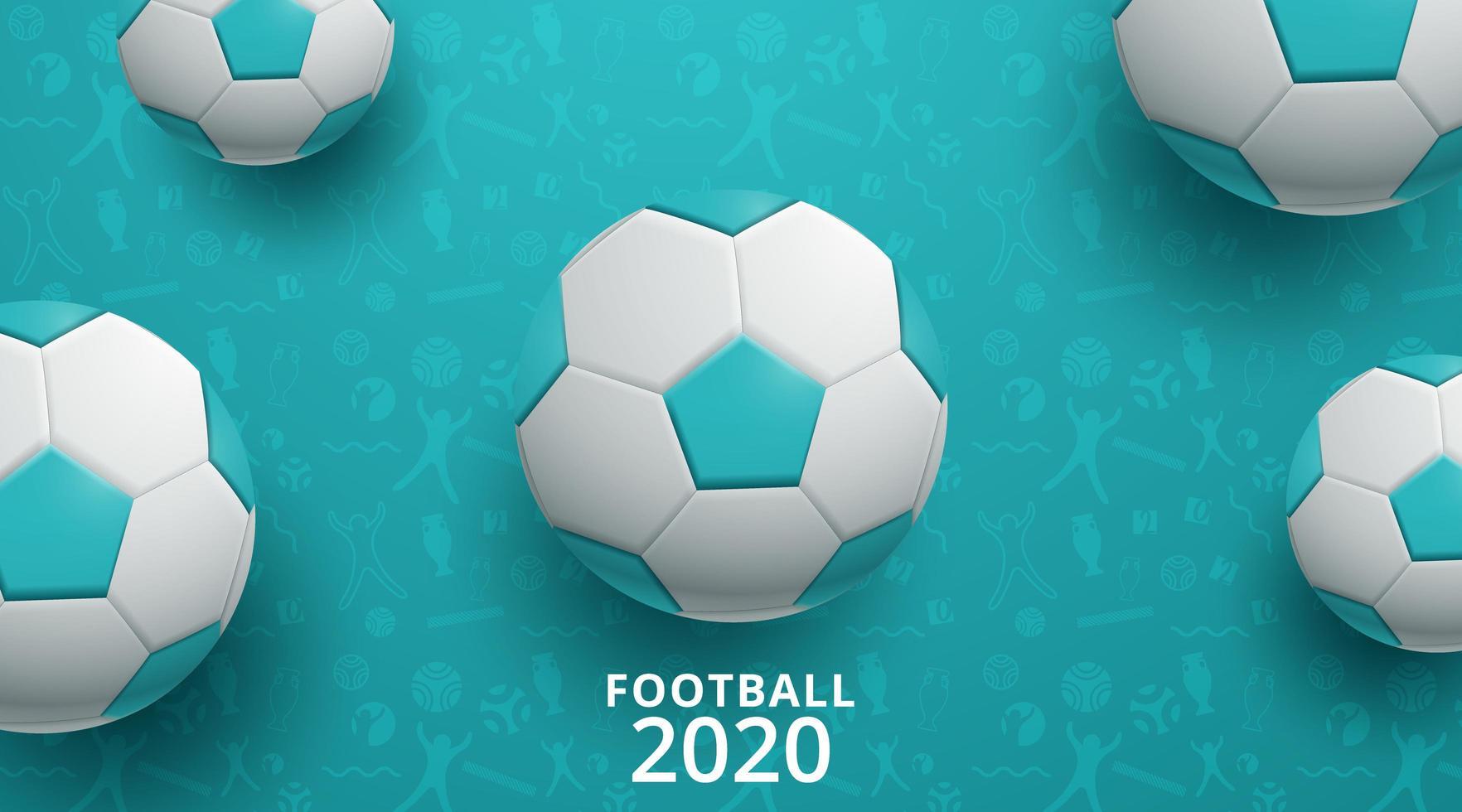 fond de football football 2020 vecteur