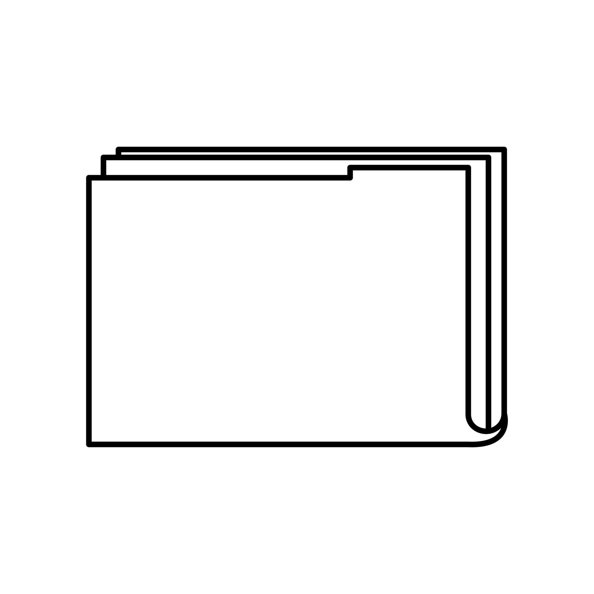 icône de style de ligne de symbole de fichier image