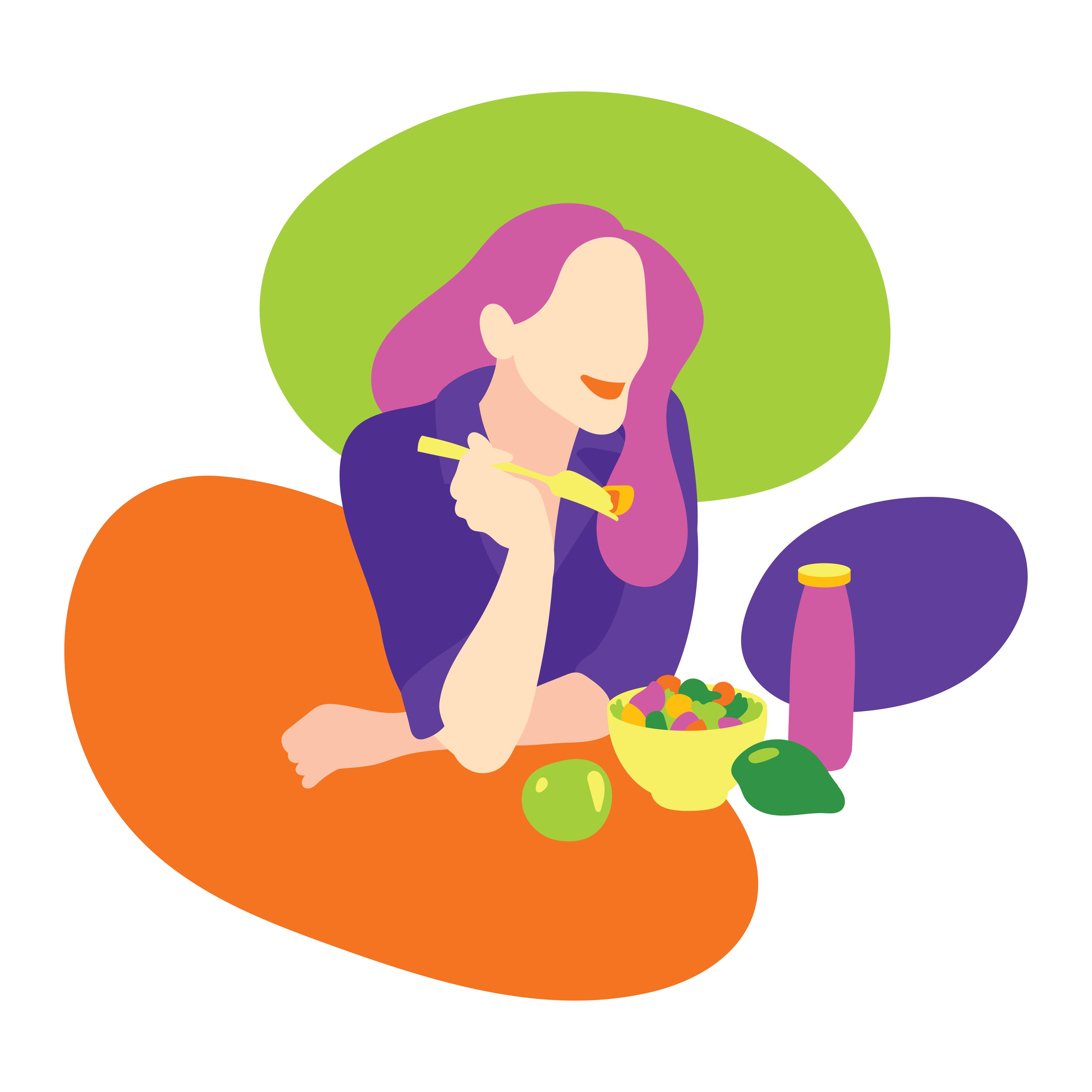 Femme Mangeant Un Repas Sain Telecharger Vectoriel Gratuit Clipart Graphique Vecteur Dessins Et Pictogramme Gratuit