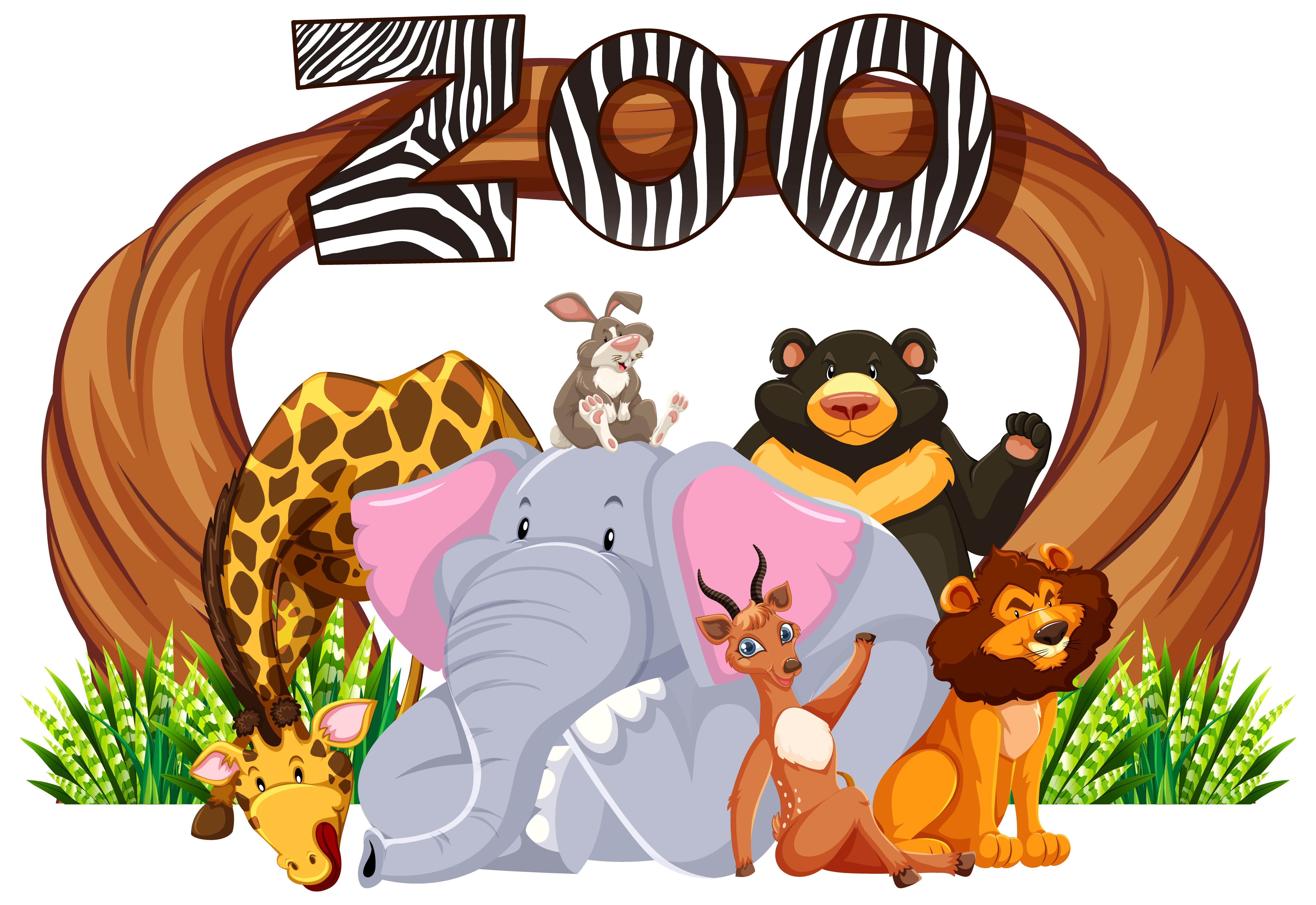 Panneau D Entree Du Zoo Avec Des Animaux De Dessin Anime Telecharger Vectoriel Gratuit Clipart Graphique Vecteur Dessins Et Pictogramme Gratuit