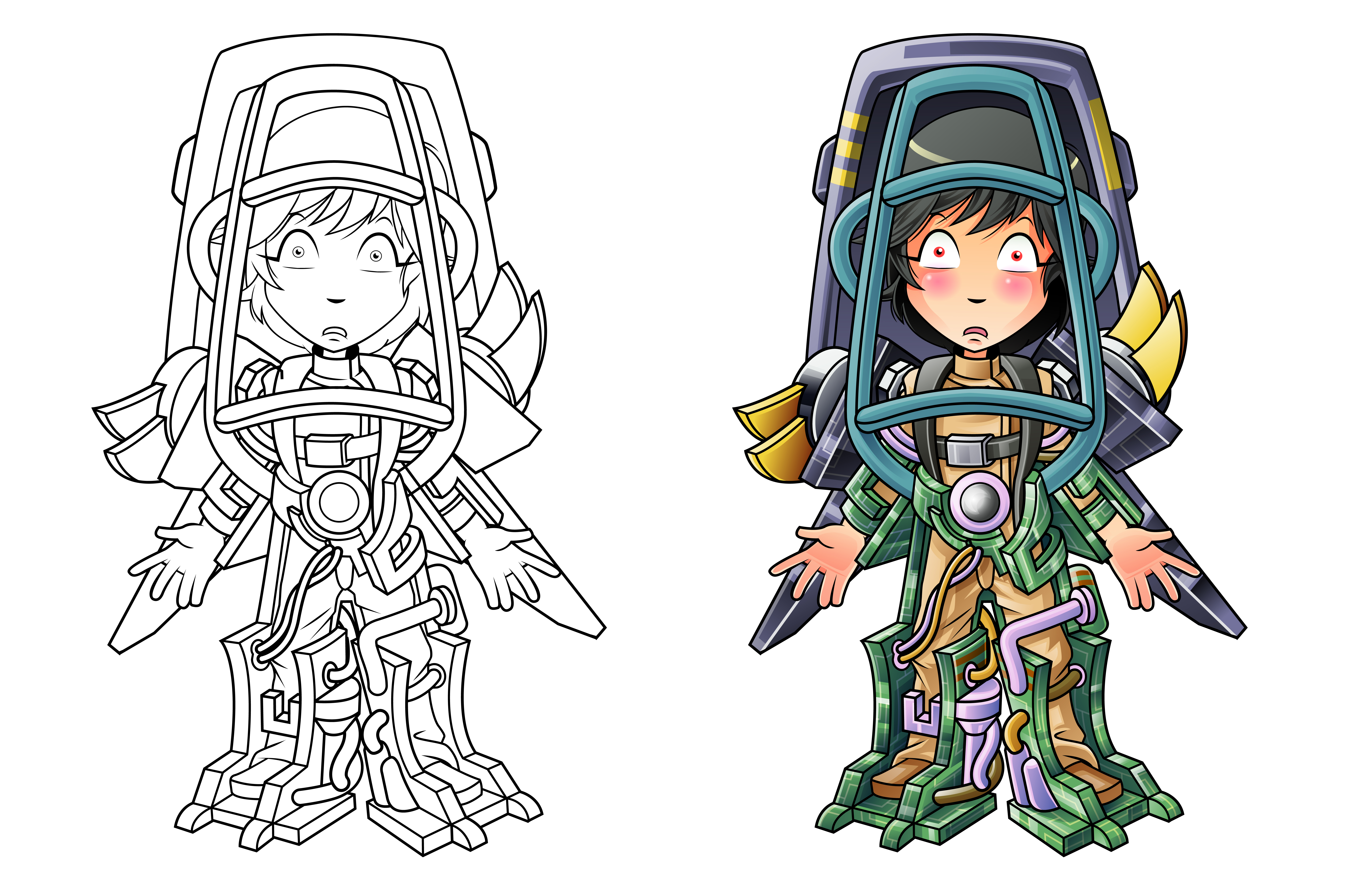 Coloriage De Dessin Anime Homme Robot Pour Les Enfants Telecharger Vectoriel Gratuit Clipart Graphique Vecteur Dessins Et Pictogramme Gratuit
