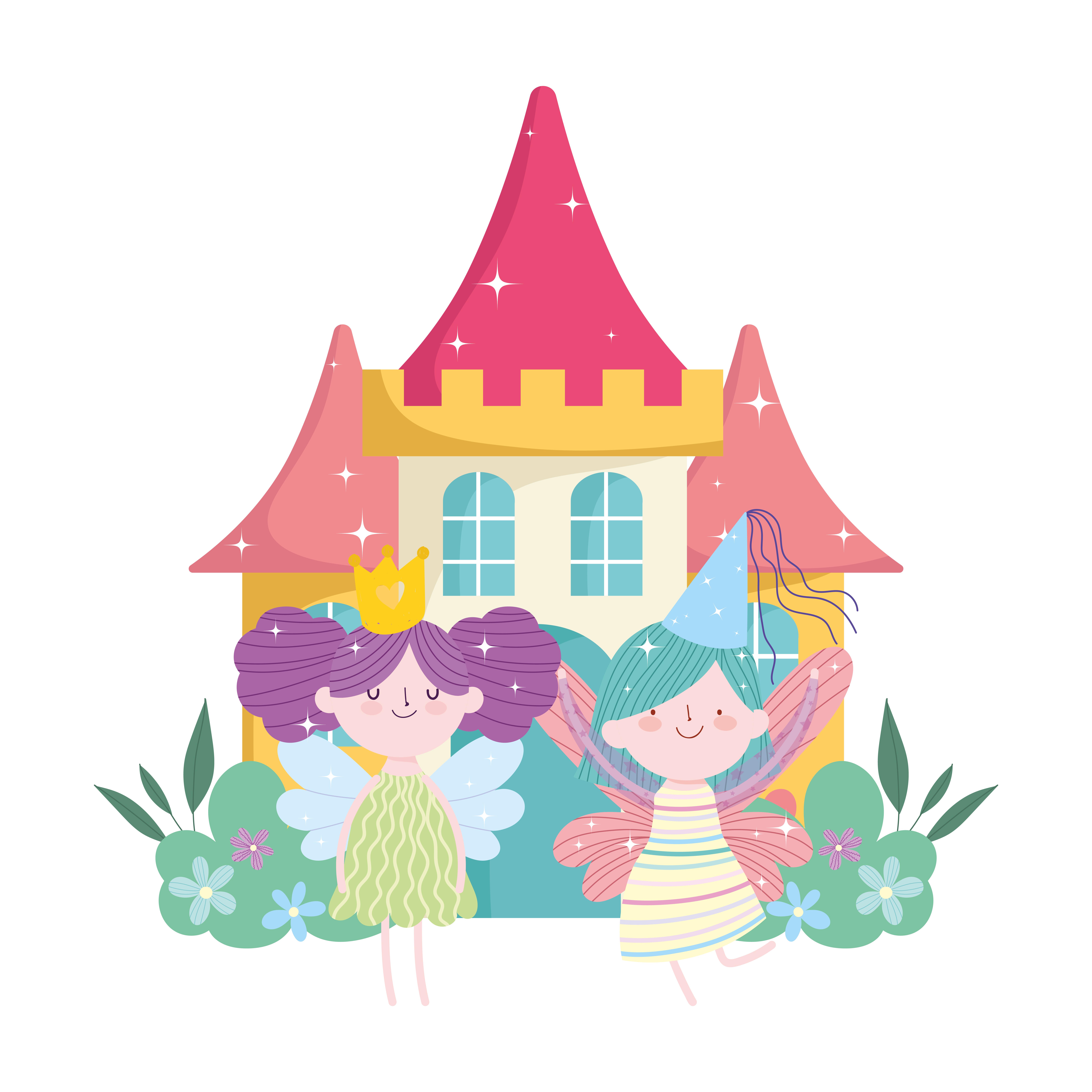 Petite Fee Princesse Avec Ailes Dessin Anime De Conte De Chateau Couronne Telecharger Vectoriel Gratuit Clipart Graphique Vecteur Dessins Et Pictogramme Gratuit
