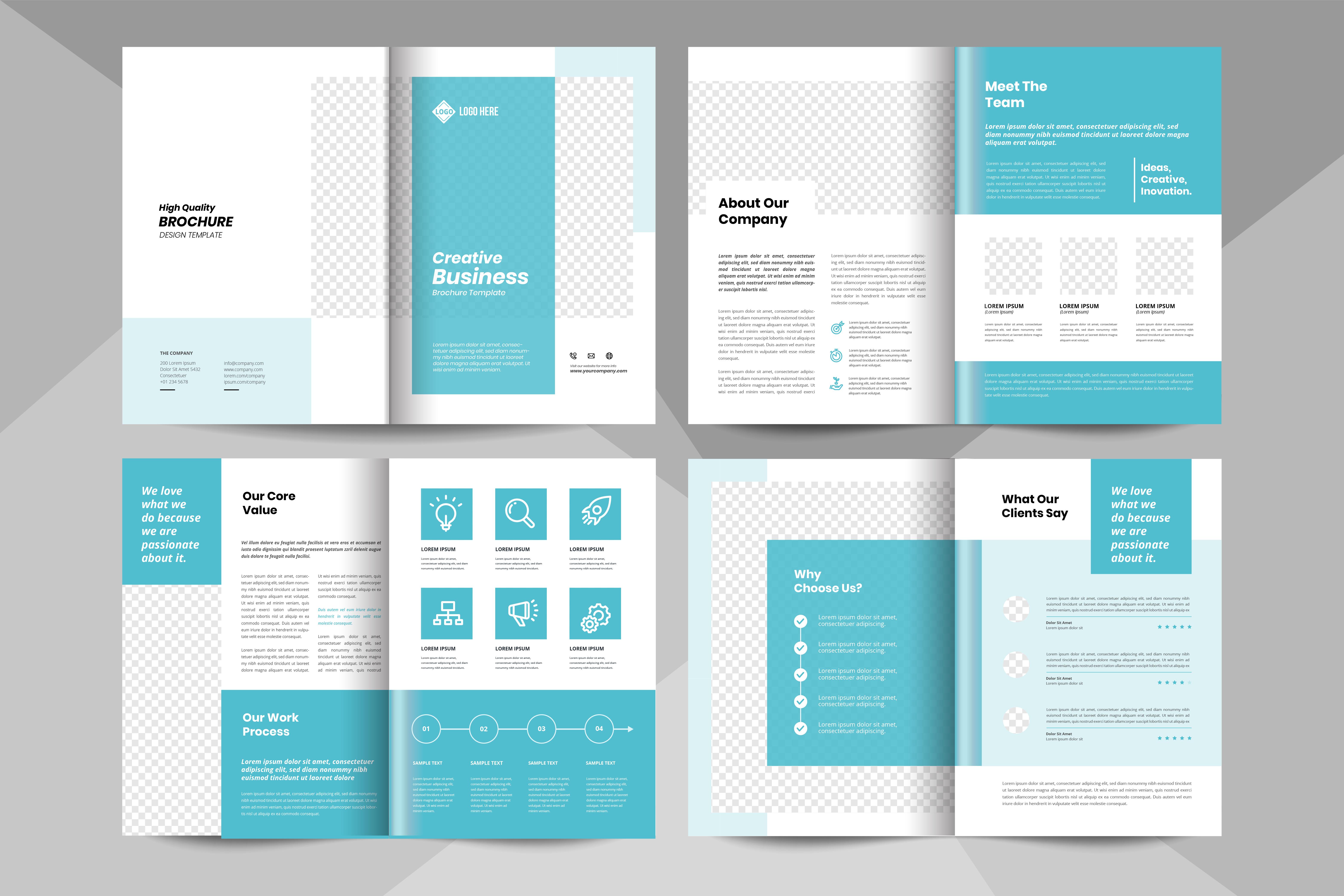 modèle de brochure d'entreprise créative. modèle de livret d ...
