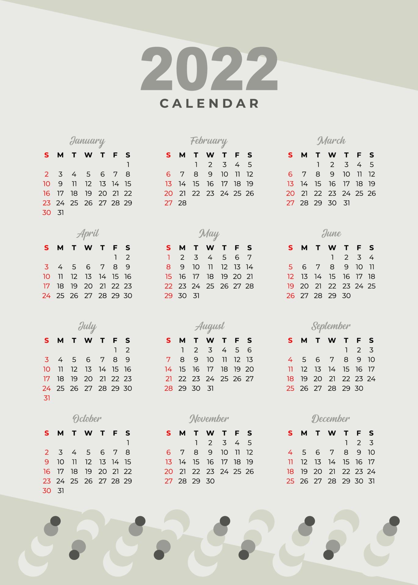 Calendrier 2022 Vectoriel Gratuit calendrier de conception de crème glacée 2022 2198757