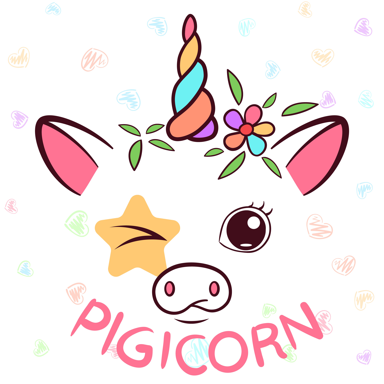 Licorne Drole Personnages De Porcicorne Illustration De Cochon Telecharger Vectoriel Gratuit Clipart Graphique Vecteur Dessins Et Pictogramme Gratuit