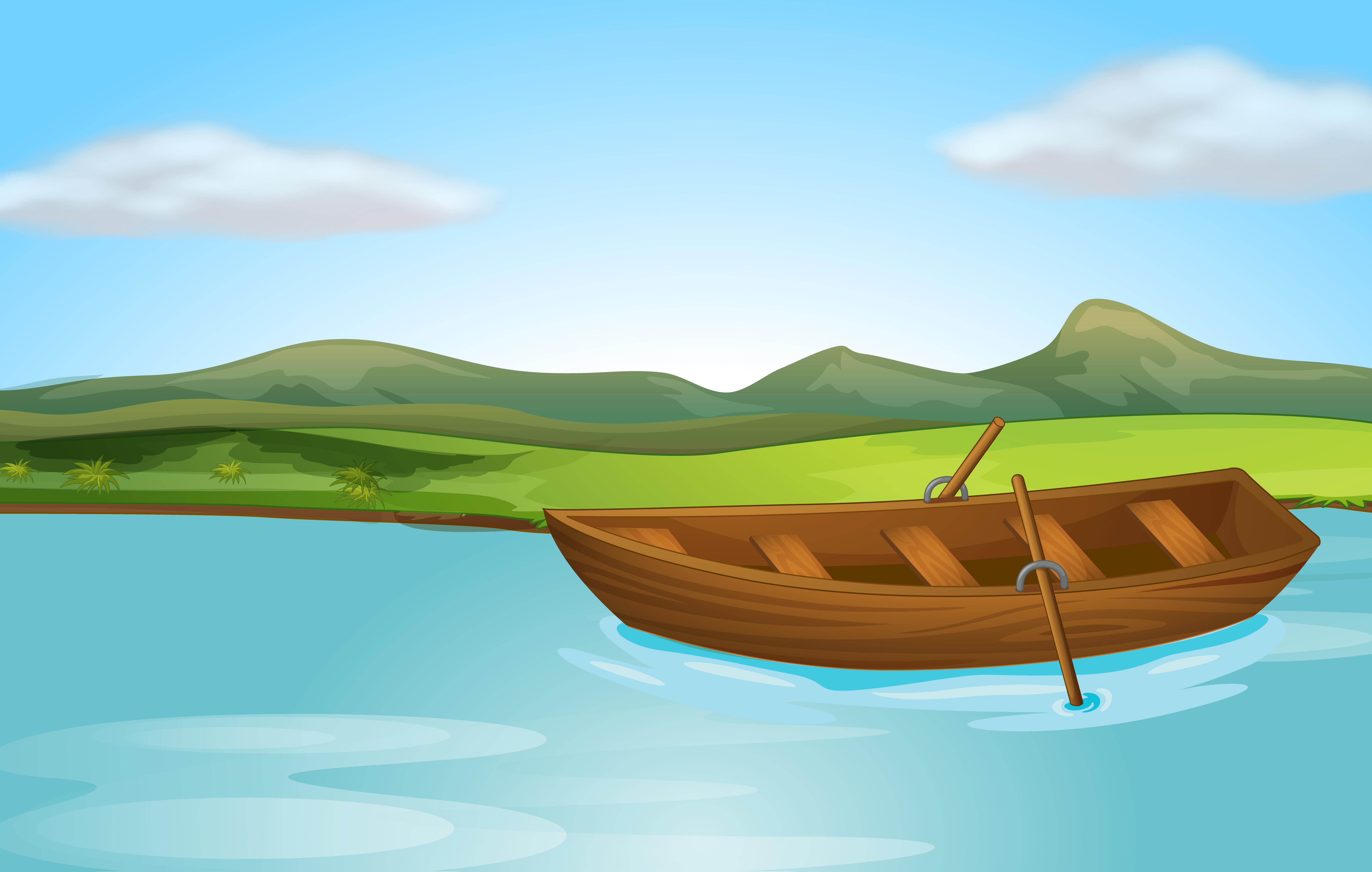 Une rivière et un bateau - Telecharger Vectoriel Gratuit ...