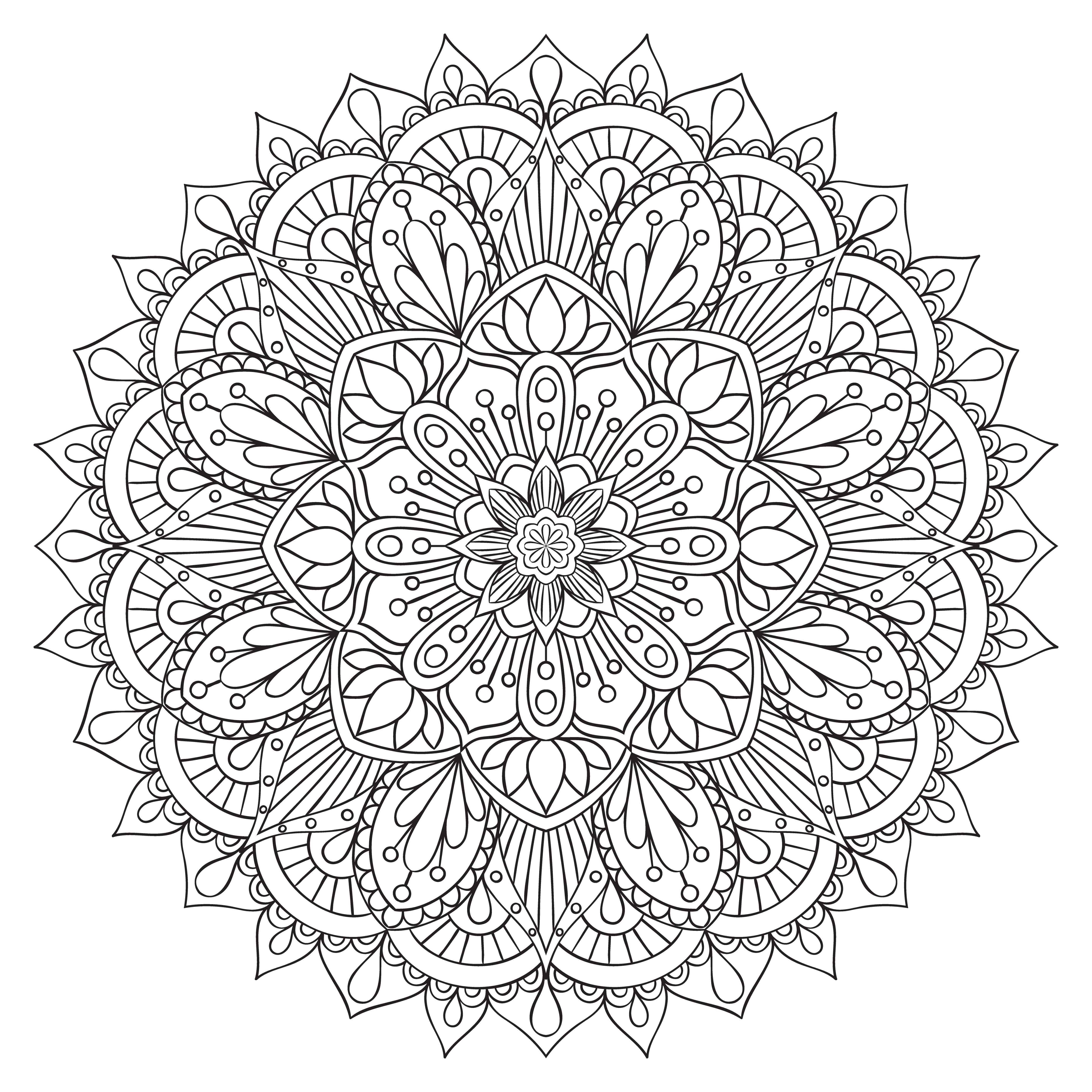 Element De Decoration Oriental Pour Cahier De Coloriage Pour Adulte Ornement Ethnique Mandala Contour Monochrome Modele De Traitement Anti Stress Symbole De Yoga Telecharger Vectoriel Gratuit Clipart Graphique Vecteur Dessins Et Pictogramme