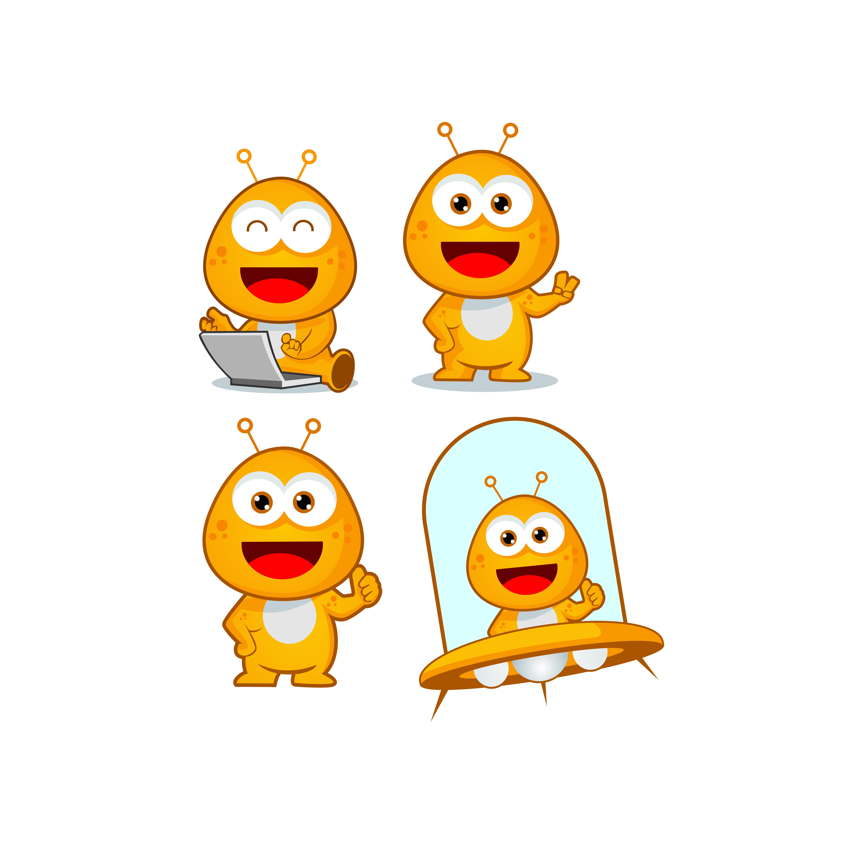 Conceptions De Logo De Mascotte De Personnage Mignon Dessin Anime Extraterrestre Telecharger Vectoriel Gratuit Clipart Graphique Vecteur Dessins Et Pictogramme Gratuit