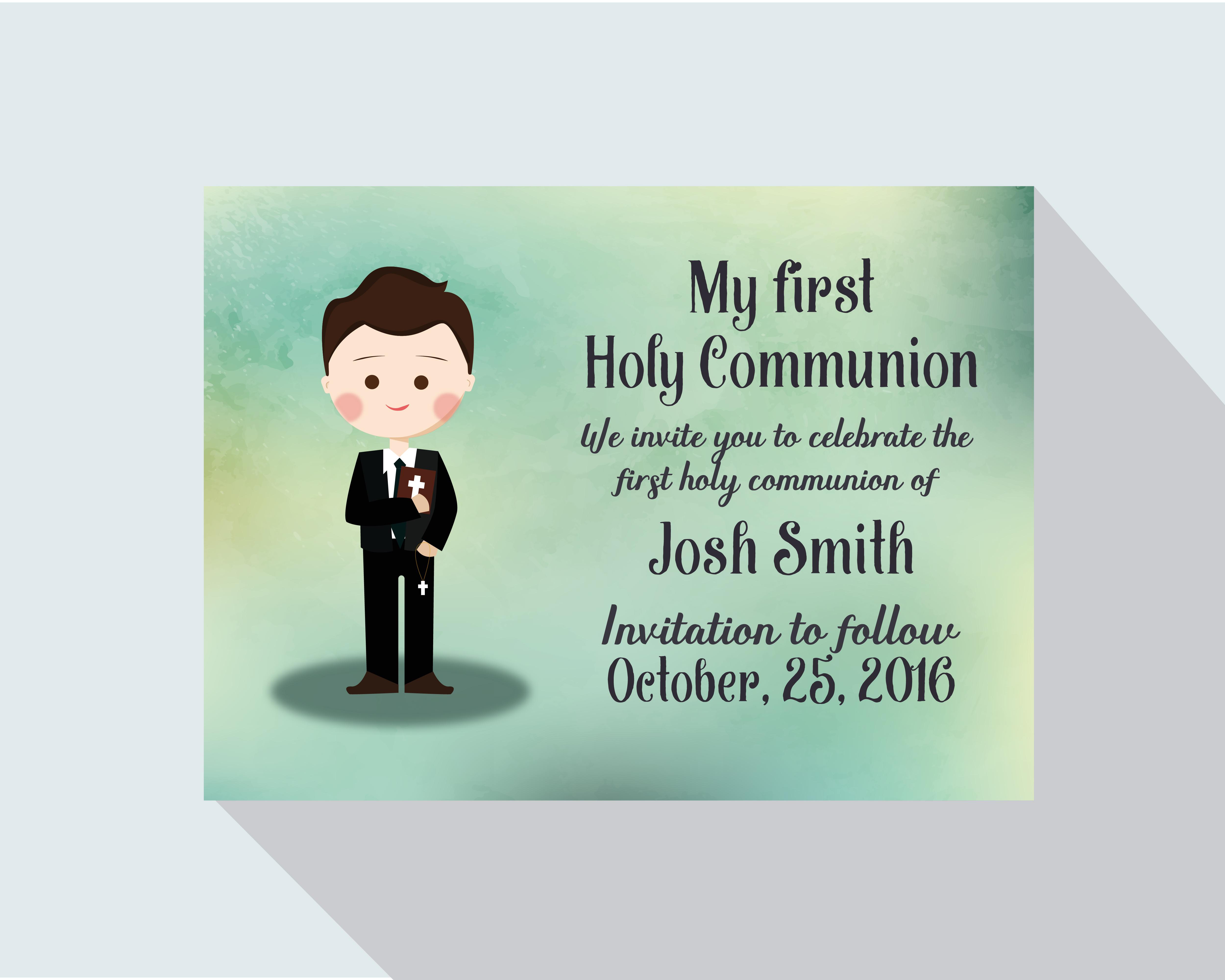Ma Premiere Carte De Sainte Communion Telecharger Vectoriel Gratuit Clipart Graphique Vecteur Dessins Et Pictogramme Gratuit
