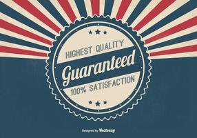 Illustration rétro garantit de qualité