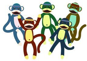 Vecteurs de jouets de singe de chaussette vecteur
