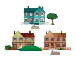 Vecteur libre des maisons de ville résidentielles