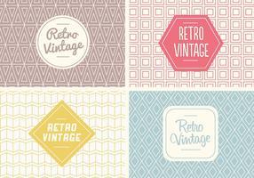 Vecteur de motif vintage sans couture gratuit