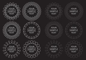 Vecteurs de logo de boucle vecteur