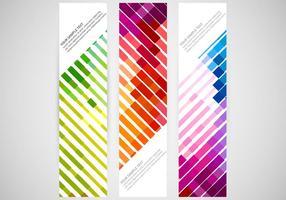 Vecteurs de bannière verticaux colorés vecteur