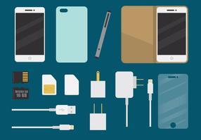 Accessoires de téléphone vecteur