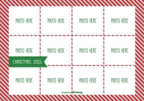 Modèle de collage de photo de Noël