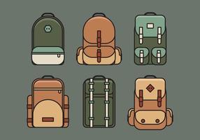 Ensemble d'illustration de sac de vecteur