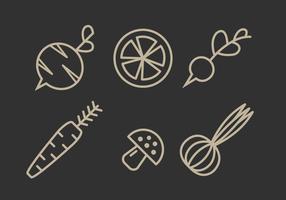 Ensemble d'illustration de légumes vectoriels vecteur