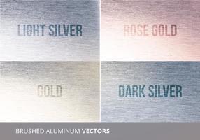 Texture de vecteur en aluminium brossé