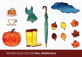 Illustrations essentielles de l'automne vecteur