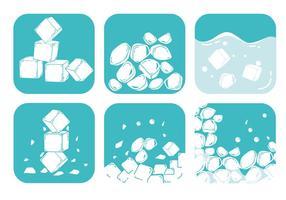 Vecteurs de glace écrasés vecteur