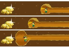 Vecteur minier d'or