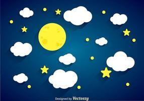 Contexte de nuit vecteur