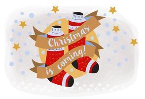 Illustration découpée à la main en fond de Noël
