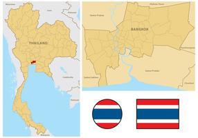 Carte de la Thaïlande vecteur