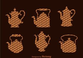 Café arabe et pot de thé