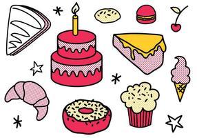 Vecteurs de desserts gratuits vecteur