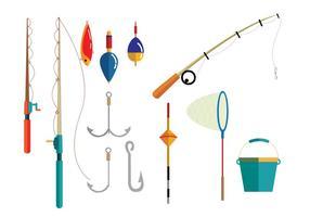 Vecteurs d'équipement de pêche vecteur