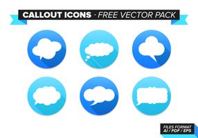 Icônes de légende Pack Vector gratuit