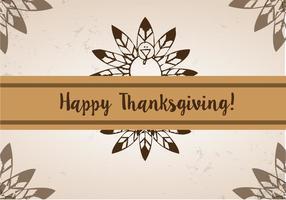 Vecteur gratuit de plumes de thanksgiving
