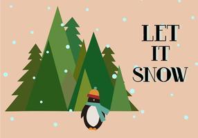 Libre laissez-le vecteur de neige